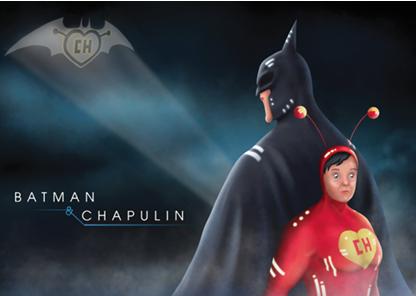 Imágenes de una tentativo cómic iberoamericano Batman Vs Chapulín Colorado.